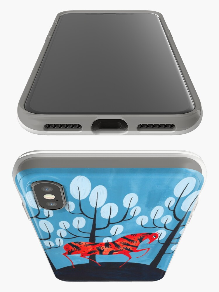 Alternate view of Smug red horse iPhone Case & Cover