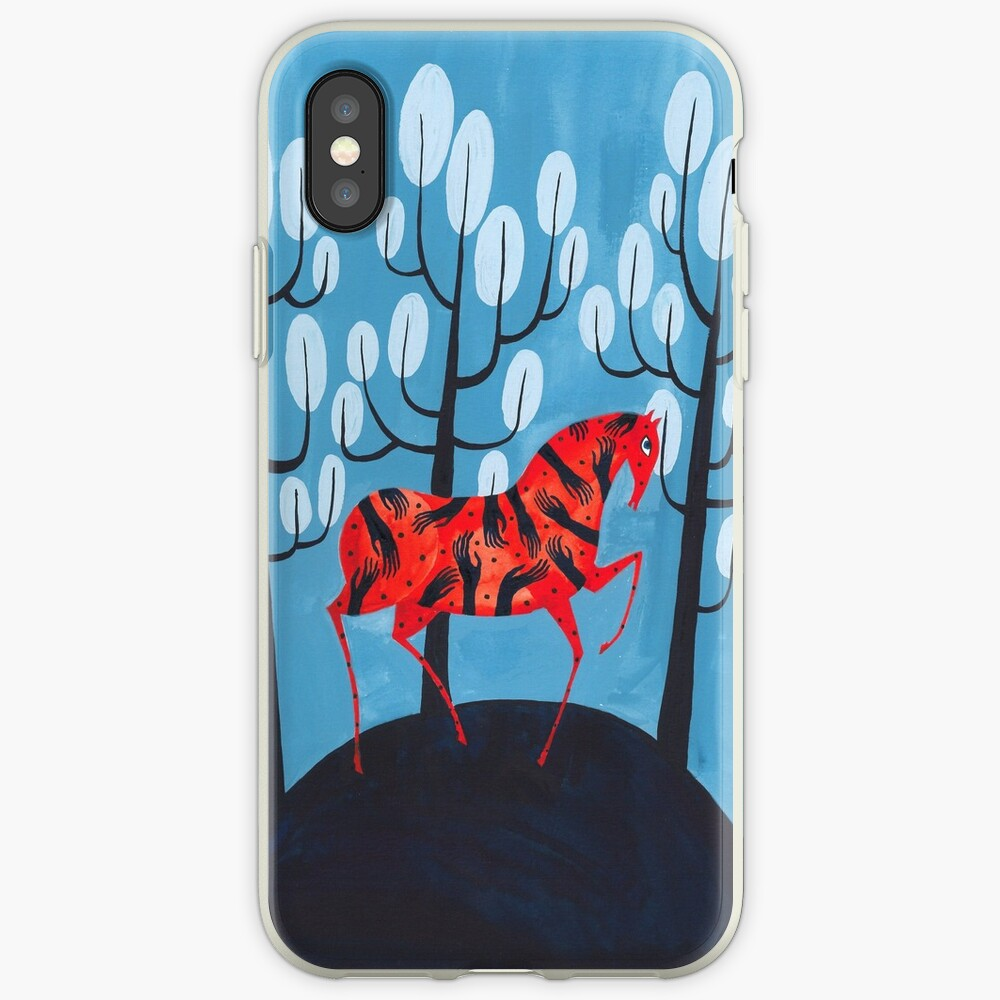 Smug red horse iPhone Case & Cover