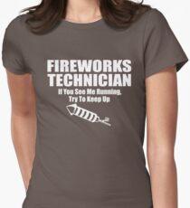 Fireworks Technician Womens Fitted T-Shirt