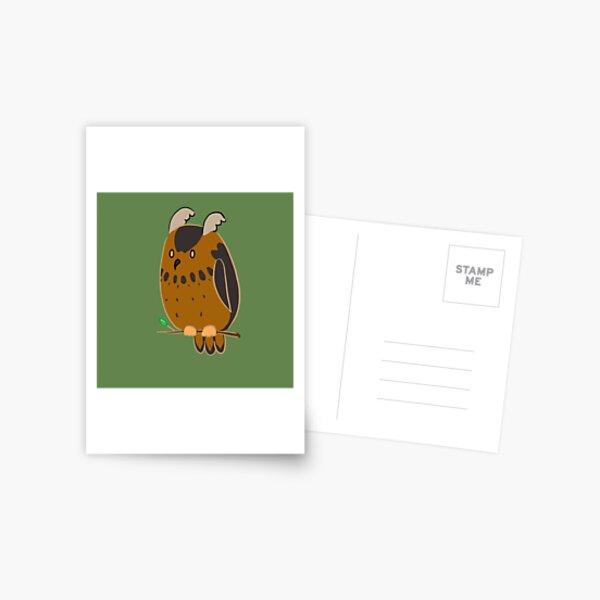 Meta-Gaming Owl Postcard