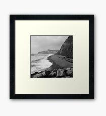 Jurassic Coast, Dorset - Stormy October Framed Print