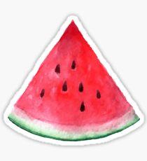 Saftige Wassermelone. Aquarell tropische Frucht Sticker