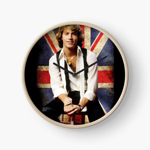Andy gibb england flag Clock