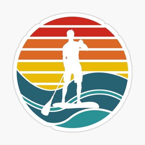 Tabla de Stand Up Paddle - SUP - Retro Waves Pegatina