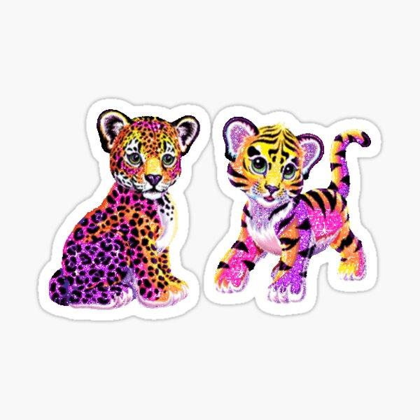 lisa frank tiger & leopard Sticker
