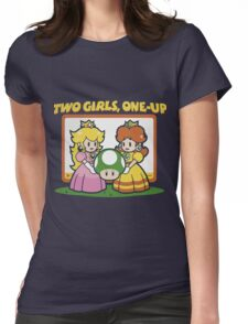 2 Girls, One-Up Womens Fitted T-Shirt