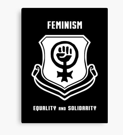Feminism Shield -- Equality and Solidarity Canvas Print