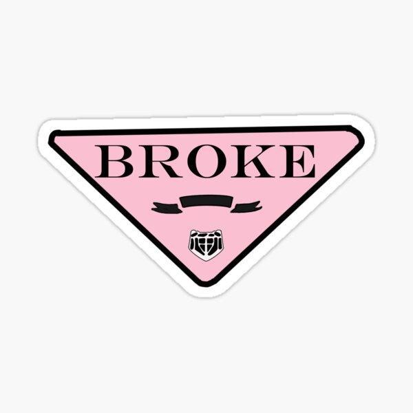 Broke Logo Sticker