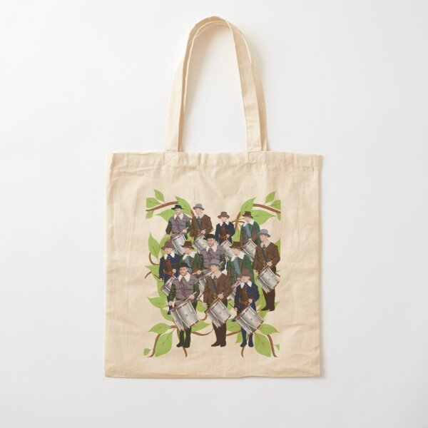 12 Days of Christmas: Twelve Drummers Drumming Cotton Tote Bag