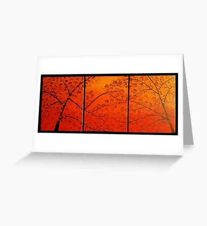 FALL TREES TRIPTYCH Greeting Card