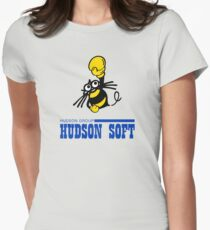 Hudson Soft Boxing Bee Logo Womens Fitted T-Shirt