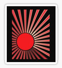 RED SUN RISING Sticker