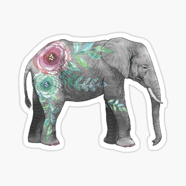 Watercolor elephant Sticker