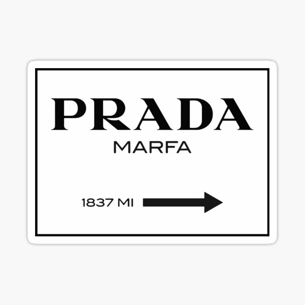 Gossip Girl Prada Sign Sticker