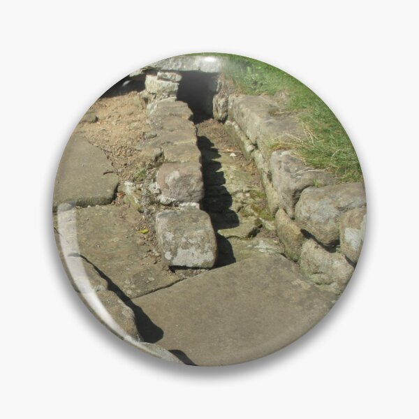 Merch #110 -- Rocks And Bricks - Shot 12 (Hadrian's Wall) Pin