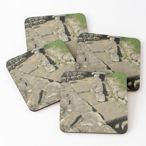 M.I. #110  ☼  Rocks And Bricks - Shot 12 (Hadrian's Wall) Coasters (Set of 4)