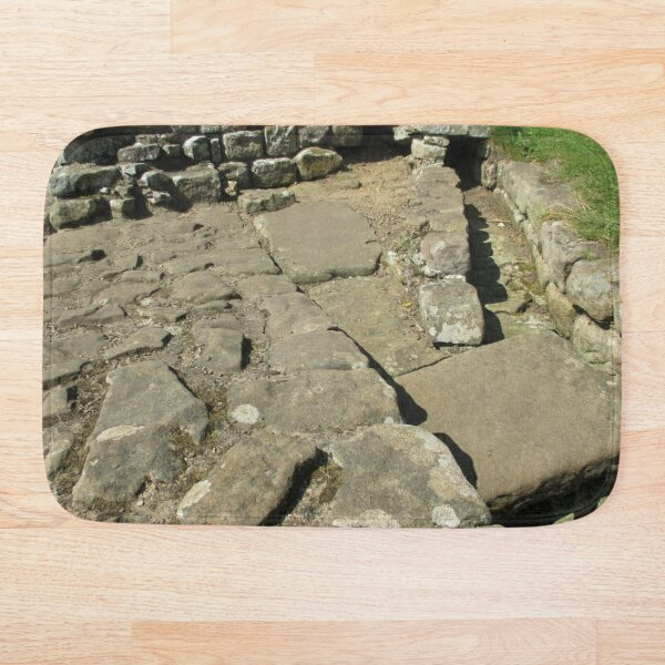 M.I. #110 |☼| Rocks And Bricks - Shot 12 (Hadrian's Wall) Bath Mat