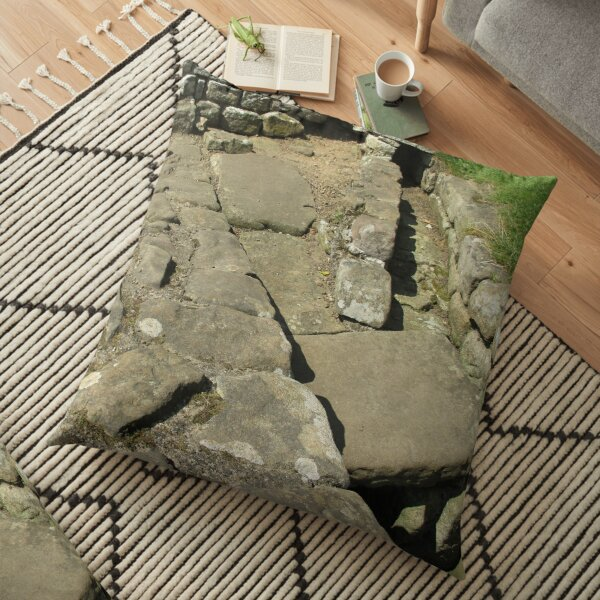 M.I. #110  ☼  Rocks And Bricks - Shot 12 (Hadrian's Wall) Floor Pillow