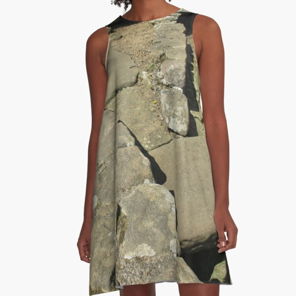 M.I. #110  ☼  Rocks And Bricks - Shot 12 (Hadrian's Wall) A-Line Dress