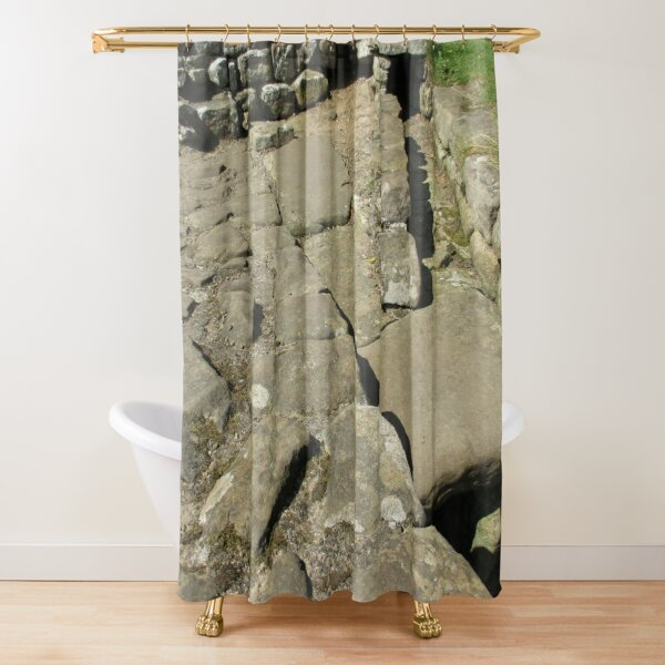 M.I. #110  ☼  Rocks And Bricks - Shot 12 (Hadrian's Wall) Shower Curtain