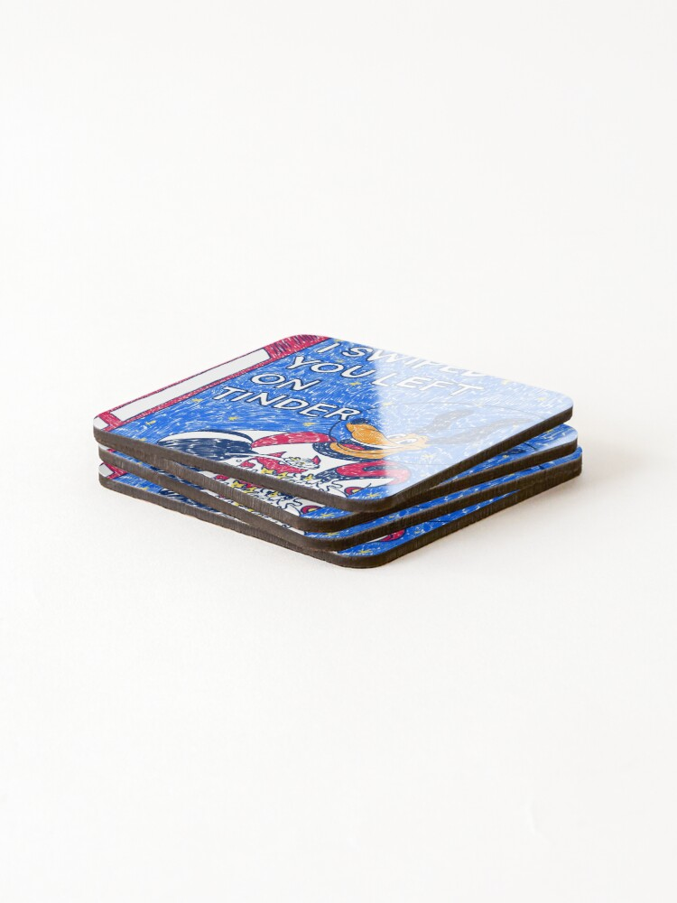 Alternate view of I Swiped You Left on Tinder Coasters (Set of 4)