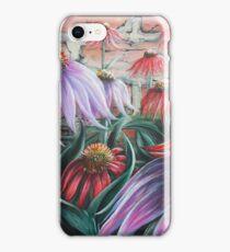 Echinacea and Brick Wall iPhone Case/Skin