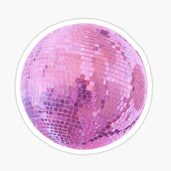 pink disco ball Sticker
