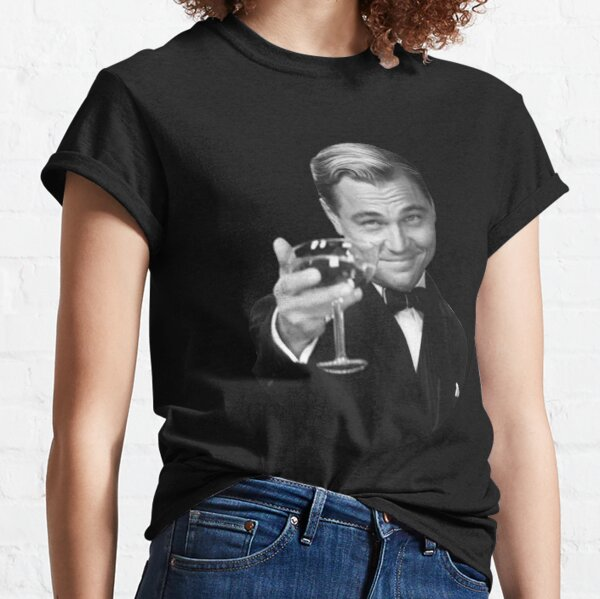 The Great Gatsby Jay Gatsby Leonardo DiCaprio meme bw Classic T-Shirt
