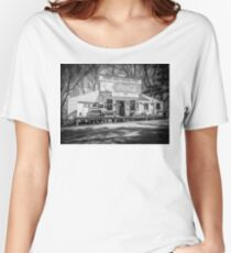 Rabbit Hash Store-Front View B&W Women's Relaxed Fit T-Shirt