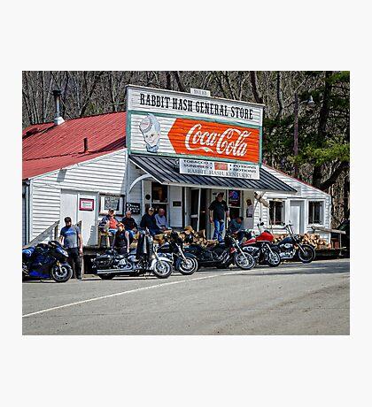 Rabbit Hash Store-Front View Bikers Photographic Print