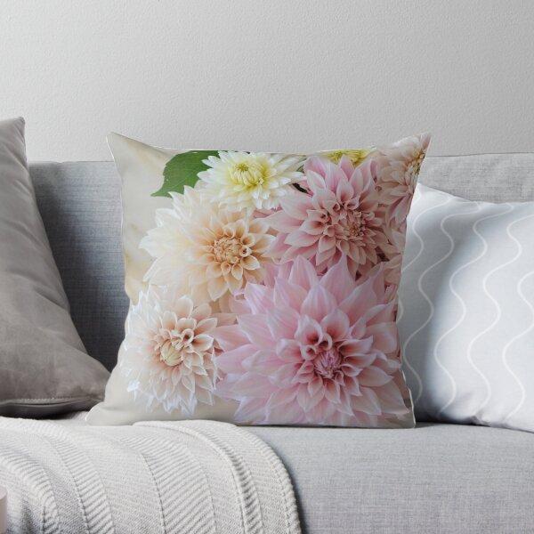 Favourite Dahlias Throw Pillow