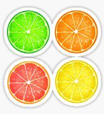 Citrus Fruits and Polka Dots Sticker