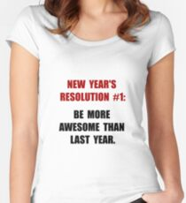 New Years Resolution Women's Fitted Scoop T-Shirt