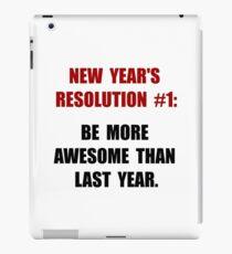 New Years Resolution iPad Case/Skin