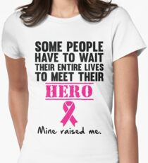 Breast Cancer Hero Women's Fitted T-Shirt