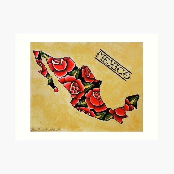 Mexico Map Art Print