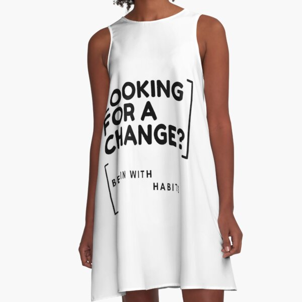 Begin With Habits A-Line Dress