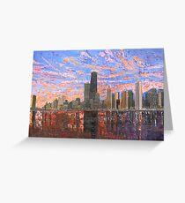 Chicago Skyline - Lake Michigan Greeting Card