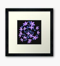 Purple Flowers Explosion Framed Print