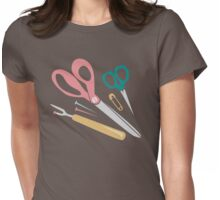 Quilter's Sewing Notions Womens Fitted T-Shirt