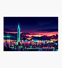 Neon City Photographic Print