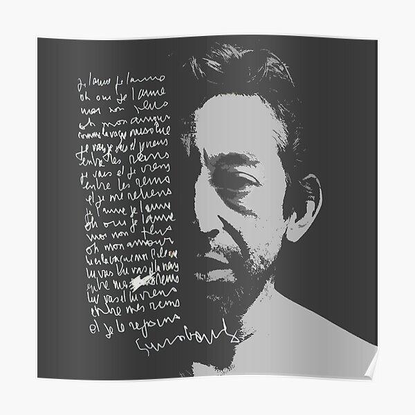 Paroles de Serge Gainsbourg Poster