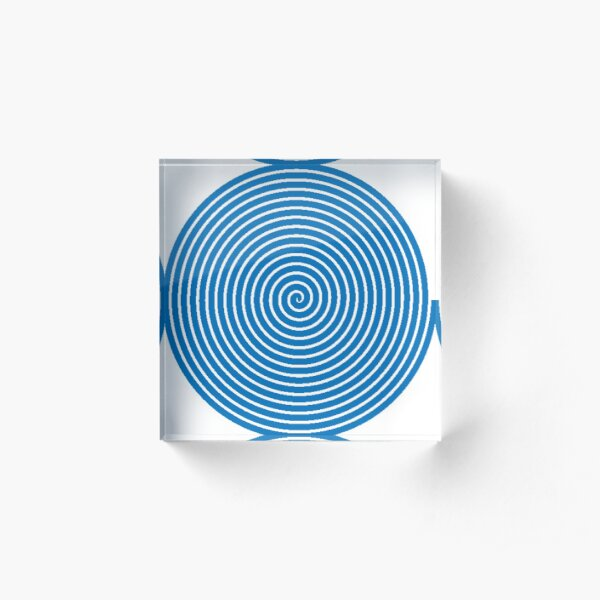 Dark blue spiral Acrylic Block