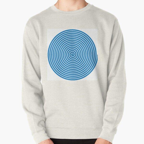 Dark blue spiral Pullover Sweatshirt
