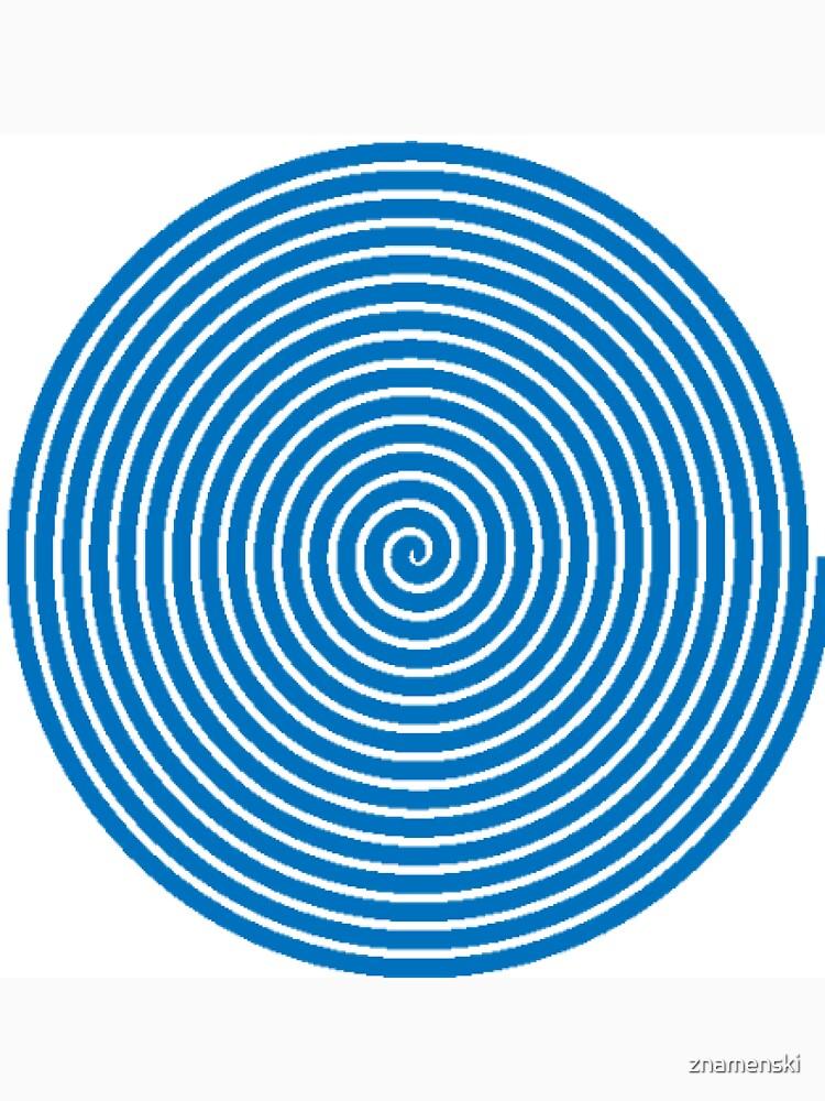 Dark blue spiral by znamenski