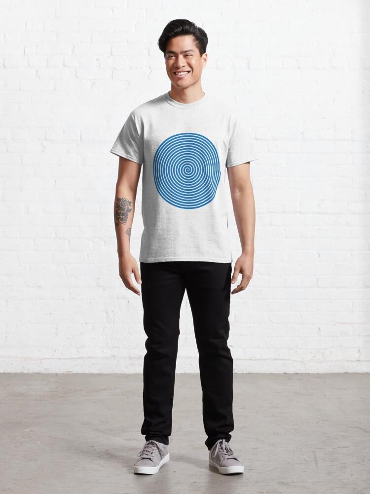 Alternate view of Dark blue spiral Classic T-Shirt