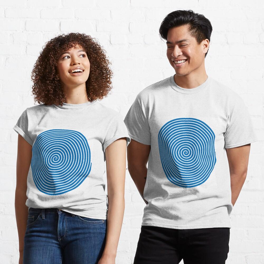 Dark blue spiral Classic T-Shirt