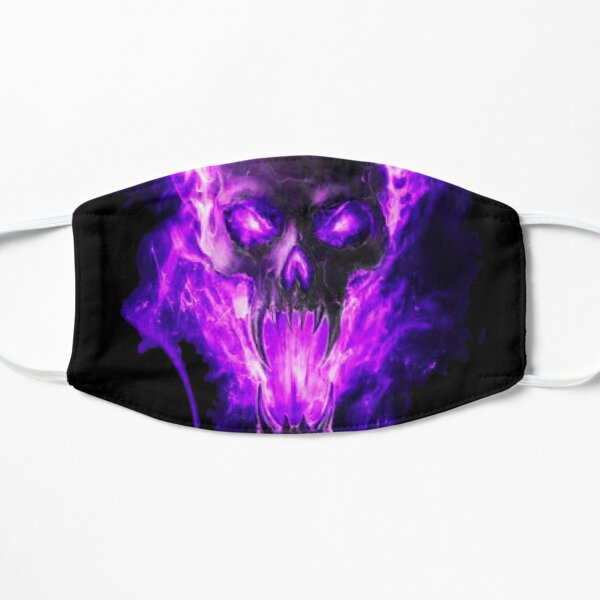 Skull in beautiful purple flames ?☠️  Flat Mask