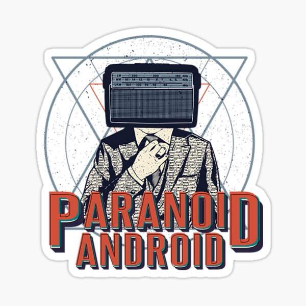 Radiohead T-Shirt Android Paranoid Sticker