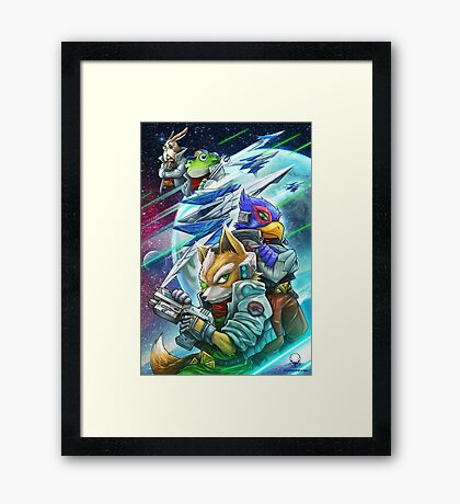 Space Animals Framed Print